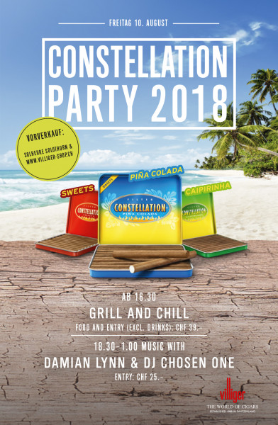CONSTELLATION PARTY – GRILL AND CHILL